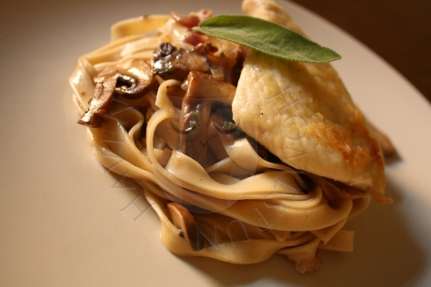 chicken saltimbocca pasta