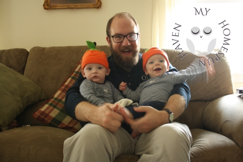 My Little Pumpkinheads with Daddy.